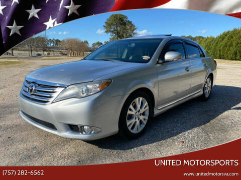 2011 Toyota Avalon for sale at United Motorsports in Virginia Beach VA