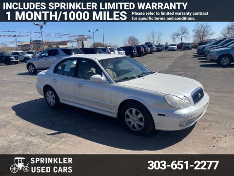 2004 Hyundai Sonata for sale at Sprinkler Used Cars in Longmont CO