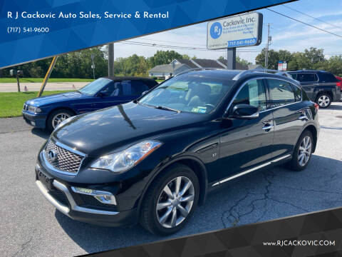 2016 Infiniti QX50 for sale at R J Cackovic Auto Sales, Service & Rental in Harrisburg PA