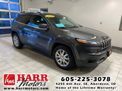 2016 Jeep Cherokee for sale at Harr Motors Bargain Center in Aberdeen SD