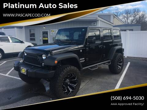 2017 Jeep Wrangler Unlimited for sale at Platinum Auto Sales in South Yarmouth MA