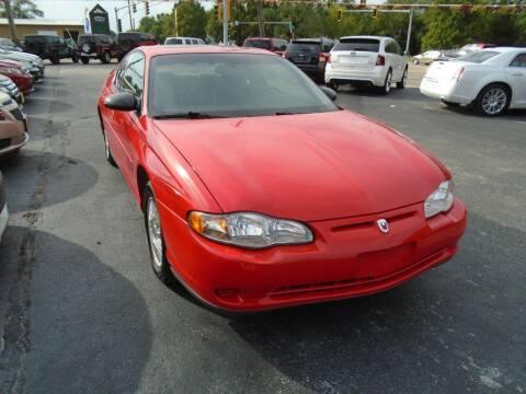 2001 Chevrolet Monte Carlo for sale at River City Auto Sales in Cottage Hills IL