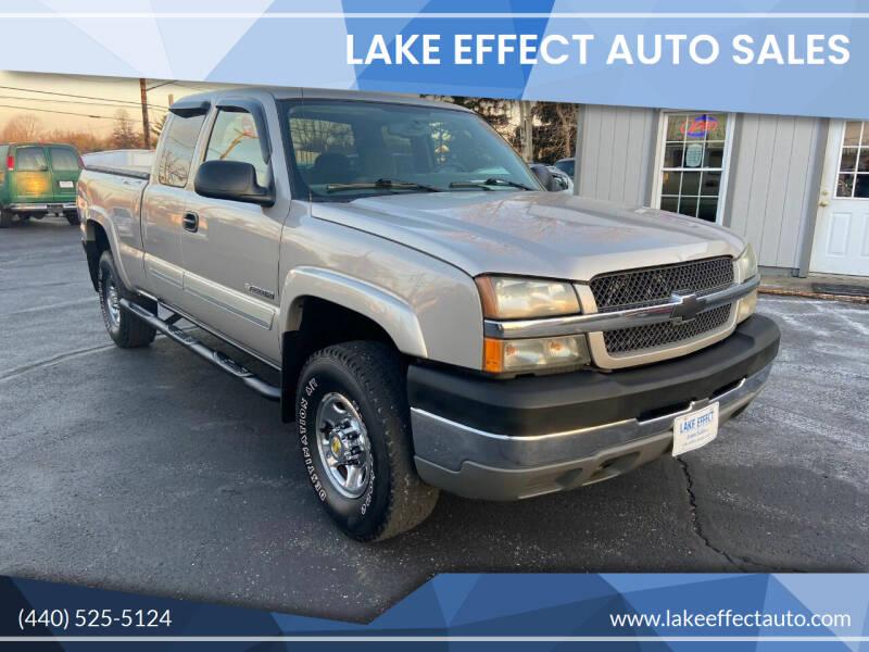 2004 Chevrolet Silverado 2500HD for sale at Lake Effect Auto Sales in Chardon OH