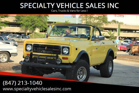 1978 International Scout for sale at SPECIALTY VEHICLE SALES INC in Skokie IL