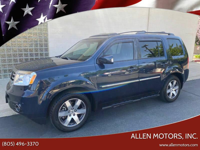 2012 Honda Pilot for sale at Allen Motors, Inc. in Thousand Oaks CA