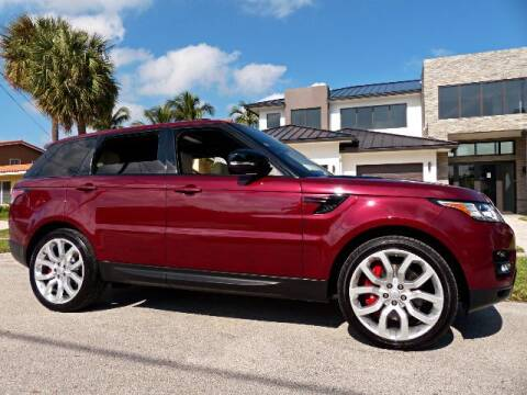 2017 Land Rover Range Rover Sport for sale at Lifetime Automotive Group in Pompano Beach FL