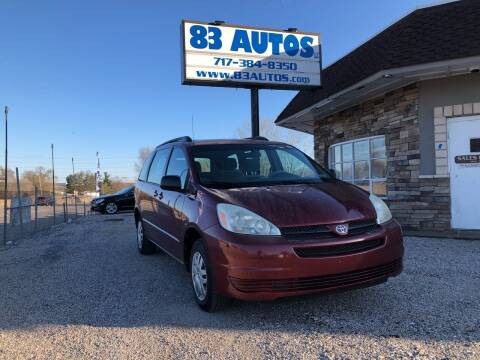 2005 Toyota Sienna for sale at 83 Autos in York PA