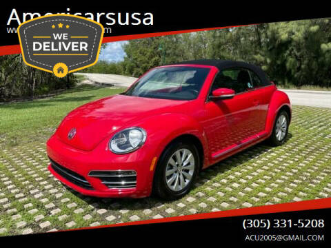 2019 Volkswagen Beetle Convertible for sale at Americarsusa in Hollywood FL