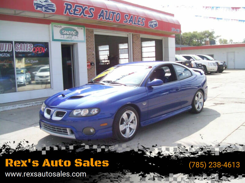 2006 Pontiac GTO for sale at Rex's Auto Sales in Junction City KS