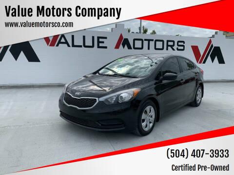 2016 Kia Forte for sale at Value Motors Company in Marrero LA