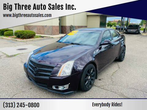 2009 Cadillac CTS for sale at Big Three Auto Sales Inc. in Detroit MI