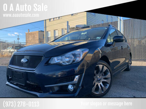 2015 Subaru Impreza for sale at O A Auto Sale in Paterson NJ