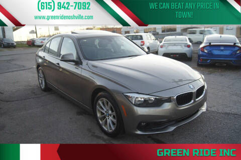 2016 BMW 3 Series for sale at Green Ride Inc in Nashville TN