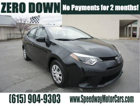 2015 Toyota Corolla for sale at Speedway Motors in Murfreesboro TN