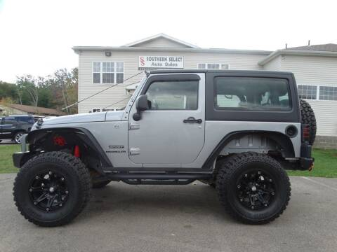 2013 Jeep Wrangler for sale at SOUTHERN SELECT AUTO SALES in Medina OH