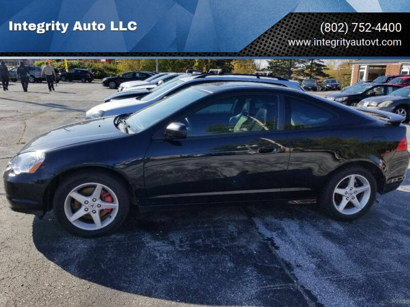 2004 Acura RSX for sale at Integrity Auto LLC - Integrity Auto 2.0 in St. Albans VT
