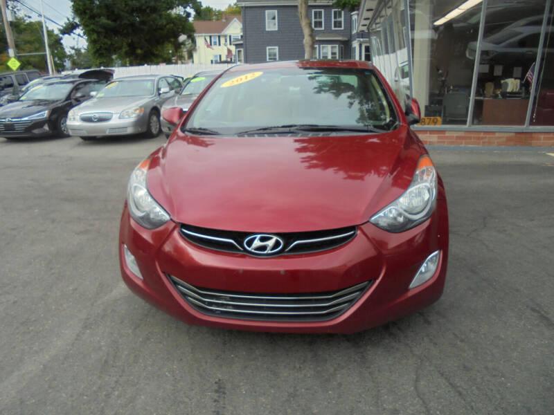 2012 Hyundai Elantra for sale at Washington Street Auto Sales in Canton MA