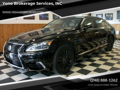 2015 Lexus LS 460 for sale at Yono Brokerage Services, INC in Farmington MI