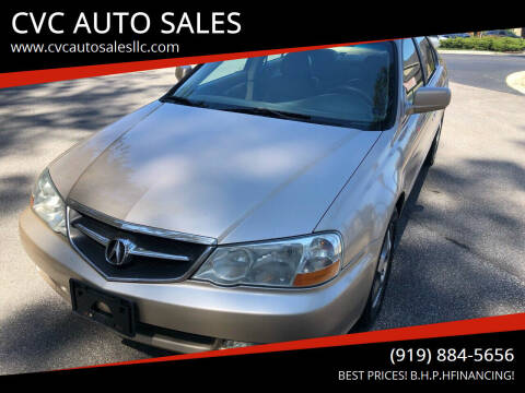 2002 Acura TL for sale at CVC AUTO SALES in Durham NC