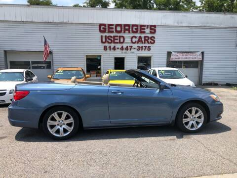2011 Chrysler 200 Convertible for sale at George's Used Cars Inc in Orbisonia PA