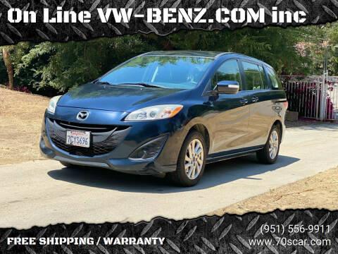 2014 Mazda MAZDA5 for sale at OnLine VW-BENZ.COM inc in Warehouse CA