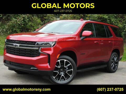 2021 Chevrolet Tahoe for sale at GLOBAL MOTORS in Binghamton NY