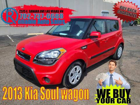 2013 Kia Soul for sale at Reliable Auto Sales in Las Vegas NV