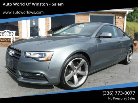 2014 Audi A5 for sale at Auto World Of Winston - Salem in Winston Salem NC