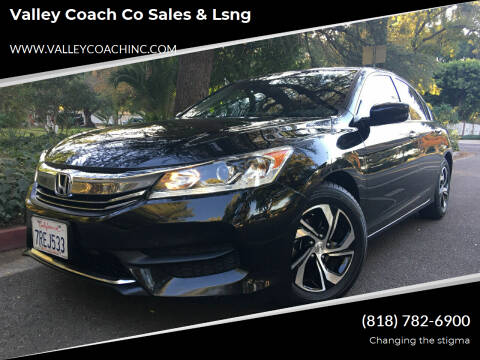 2016 Honda Accord for sale at Valley Coach Co Sales & Lsng in Van Nuys CA