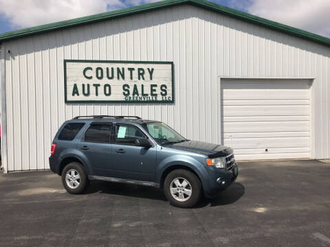 2010 Ford Escape for sale at COUNTRY AUTO SALES LLC in Greenville OH