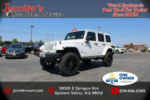 2015 Jeep Wrangler Unlimited for sale at Jennifer's Auto Sales in Spokane Valley WA