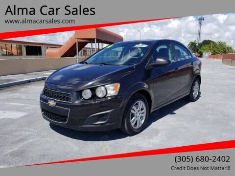 2014 Chevrolet Sonic for sale at Alma Car Sales in Miami FL
