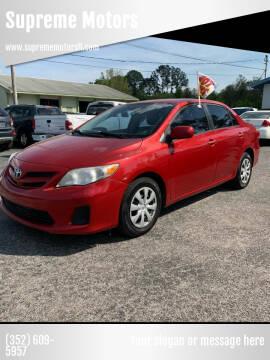 2011 Toyota Corolla for sale at Supreme Motors in Tavares FL