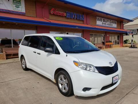2013 Toyota Sienna for sale at Ohana Motors in Lihue HI