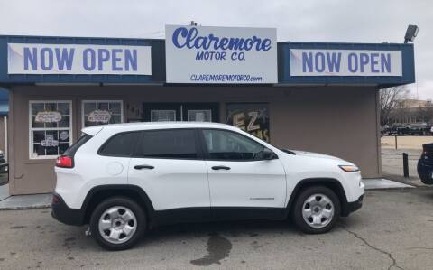 2016 Jeep Cherokee for sale at Claremore Motor Company in Claremore OK