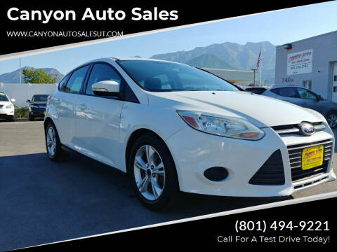 2014 Ford Focus for sale at Canyon Auto Sales in Orem UT