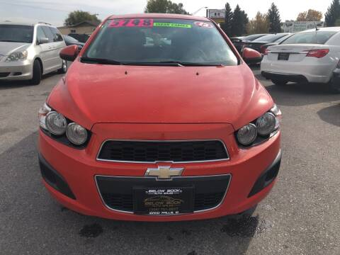 2013 Chevrolet Sonic for sale at BELOW BOOK AUTO SALES in Idaho Falls ID