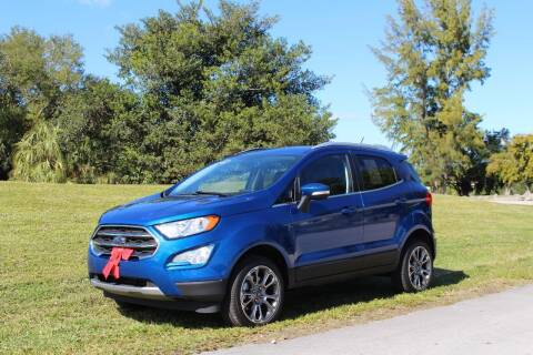 2019 Ford EcoSport for sale at CHASE MOTOR in Miami FL