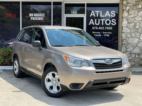 2014 Subaru Forester for sale at ATLAS AUTOS in Marietta GA