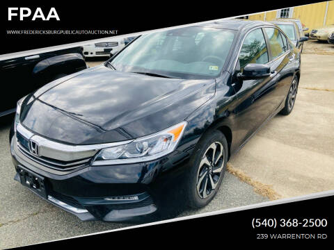 2016 Honda Accord for sale at FPAA in Fredericksburg VA