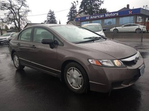 2010 Honda Civic for sale at All American Motors in Tacoma WA