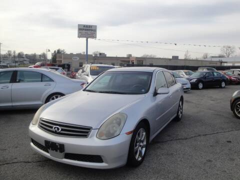 2006 Infiniti G35 for sale at A&S 1 Imports LLC in Cincinnati OH