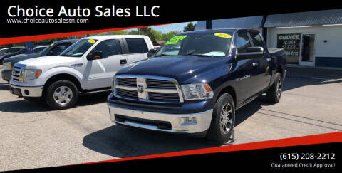 2012 RAM Ram Pickup 1500 for sale at Choice Auto Sales LLC - Cash Inventory in White House TN