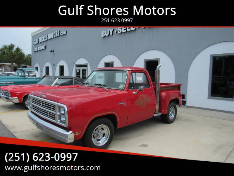 1979 Dodge Adventure 100 for sale at Gulf Shores Motors in Gulf Shores AL
