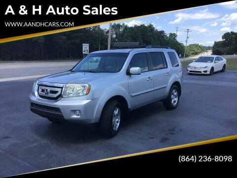 2011 Honda Pilot for sale at A & H Auto Sales in Greenville SC