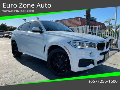 2015 BMW X6 for sale at Euro Zone Auto in Stanton CA