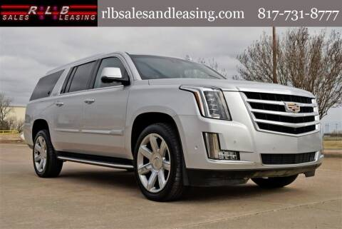 2020 Cadillac Escalade ESV for sale at RLB Sales and Leasing in Fort Worth TX