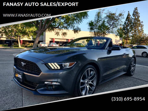 2015 Ford Mustang for sale at FANASY AUTO SALES/EXPORT in Yorba Linda CA