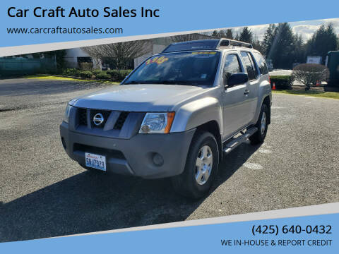 2008 Nissan Xterra for sale at Car Craft Auto Sales Inc in Lynnwood WA