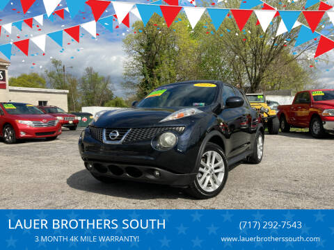 2011 Nissan JUKE for sale at LAUER BROTHERS SOUTH in York PA